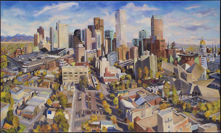 Denver Cityscape from the copy | The Joellyn T. Duesberry Collection
